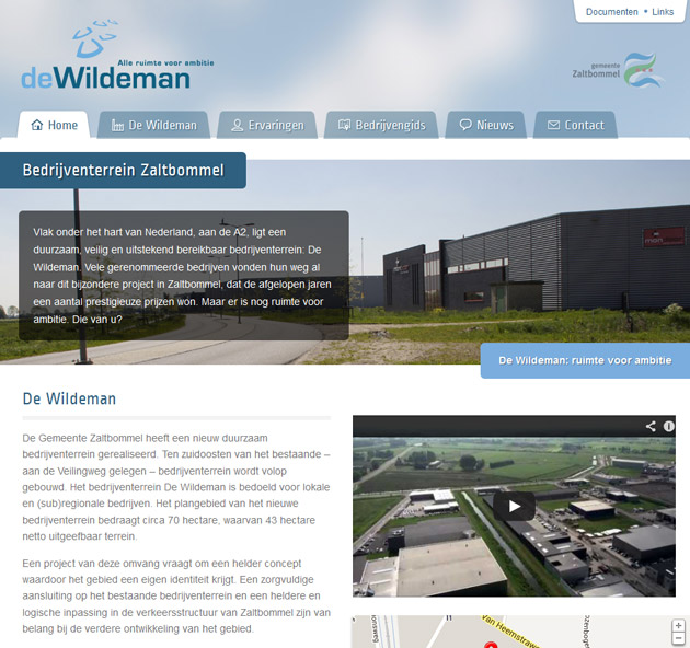 De Wildeman - website