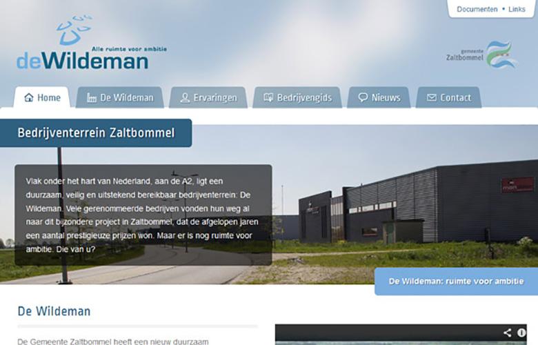Bedrijventerrein De Wildeman - website