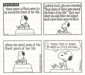 Peanuts editing
