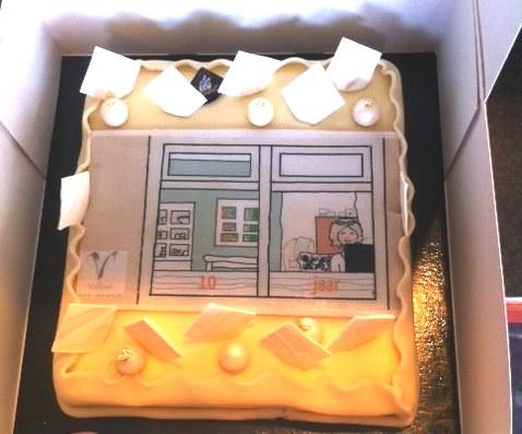 Valleur Tekst & Communicatie 10 jaar taart